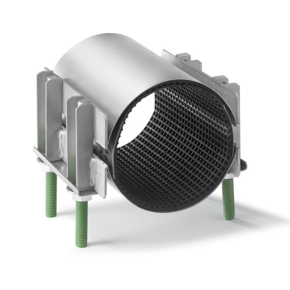 Двухленточные хомуты для труб диаметром 108-128 мм, длиной 200 - 400 мм