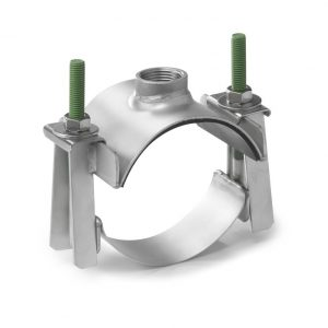 """Водозаборный хомут типа """"седло"""" для труб диаметром 108-134 мм, с выходом 1/2″. ROMACON (Голландия)"""