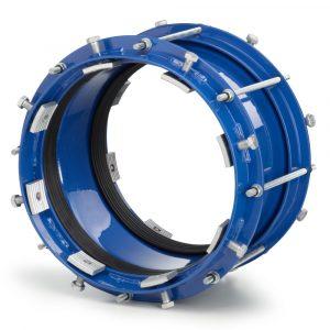 Муфта стальная с фиксаторами для чугунных труб 1043-1058 мм длиной 320 мм
